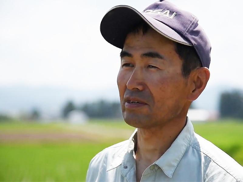 光龍生産者の千田さん(自然栽培米。いのちの壱)